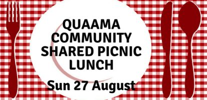 Quaama Shared Picnic Lunch, Sunday 27 August at 1pm